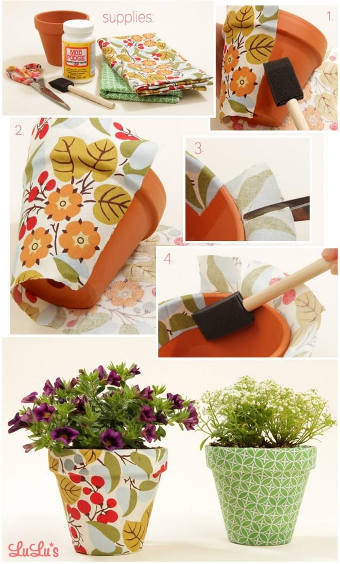diy deko ideen aus stoff deko stoff dekorrieren mit filz stoff ideendeko blumentöpfe