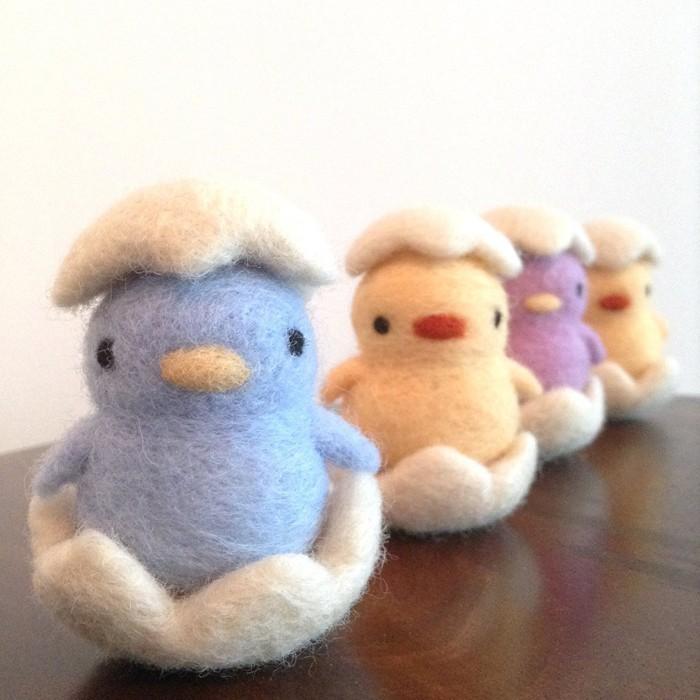 diy deko ideen aus stoff deko stoff dekorrieren mit filz stoff ideendeko kücken aus filz