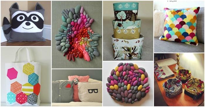 diy deko ideen aus stoff deko stoff dekorrieren mit filz stoff ideendeko kissen