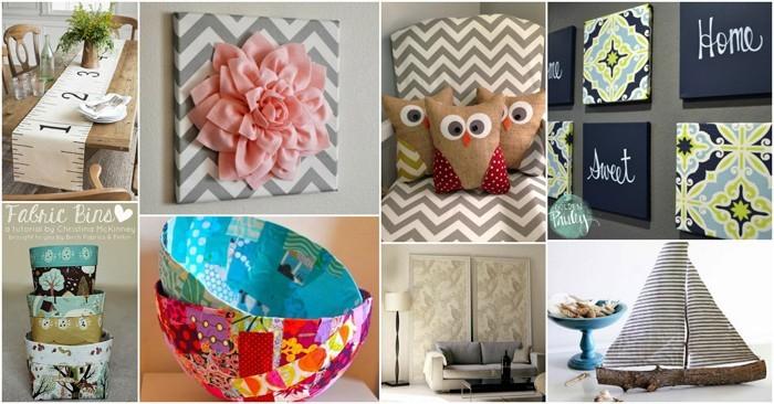 diy deko ideen aus stoff deko stoff dekorrieren mit filz stoff ideendeko kombi