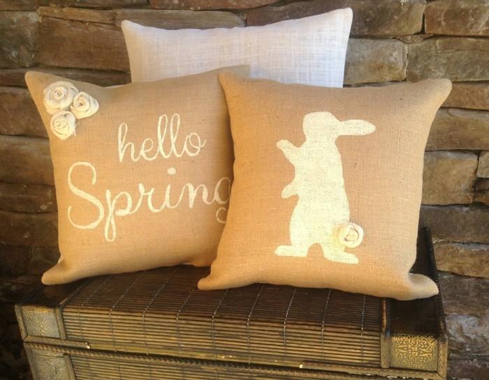 diy deko ideen aus stoff deko stoff dekorrieren mit filz stoff ideendeko osterdeko