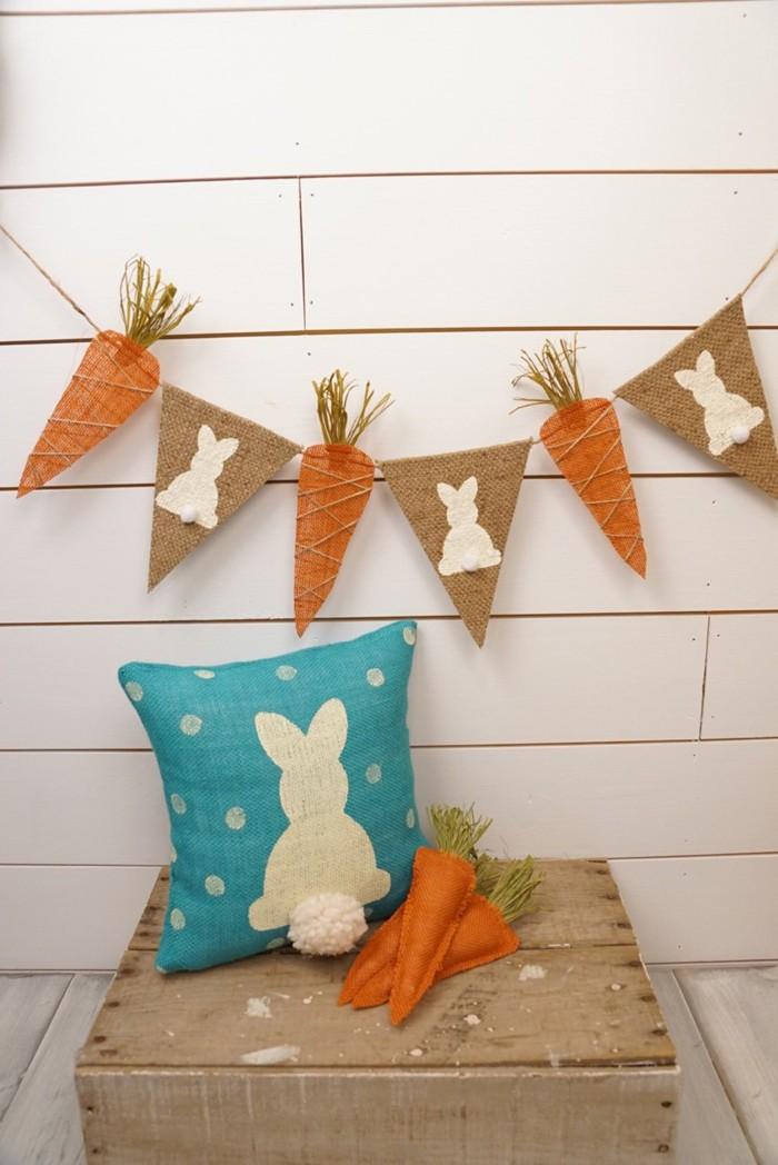 diy deko ideen aus stoff deko stoff dekorrieren mit filz stoff ideendeko osterhase mit möhren