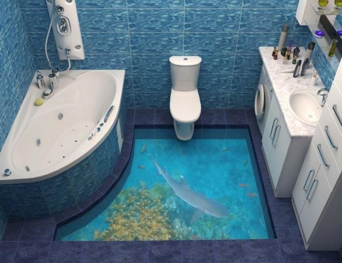 dredimensionale motive im badezimmer