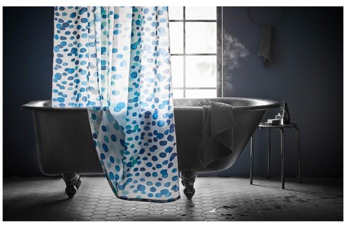 duschvorhang im badezimmer von ikea
