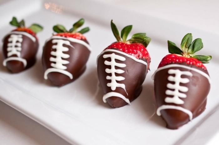 erdbeeren mit schokolade