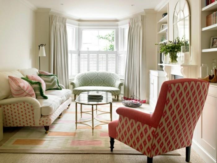 farben kombinieren muster schöne akzente setzen das wohnzimmer einrichten