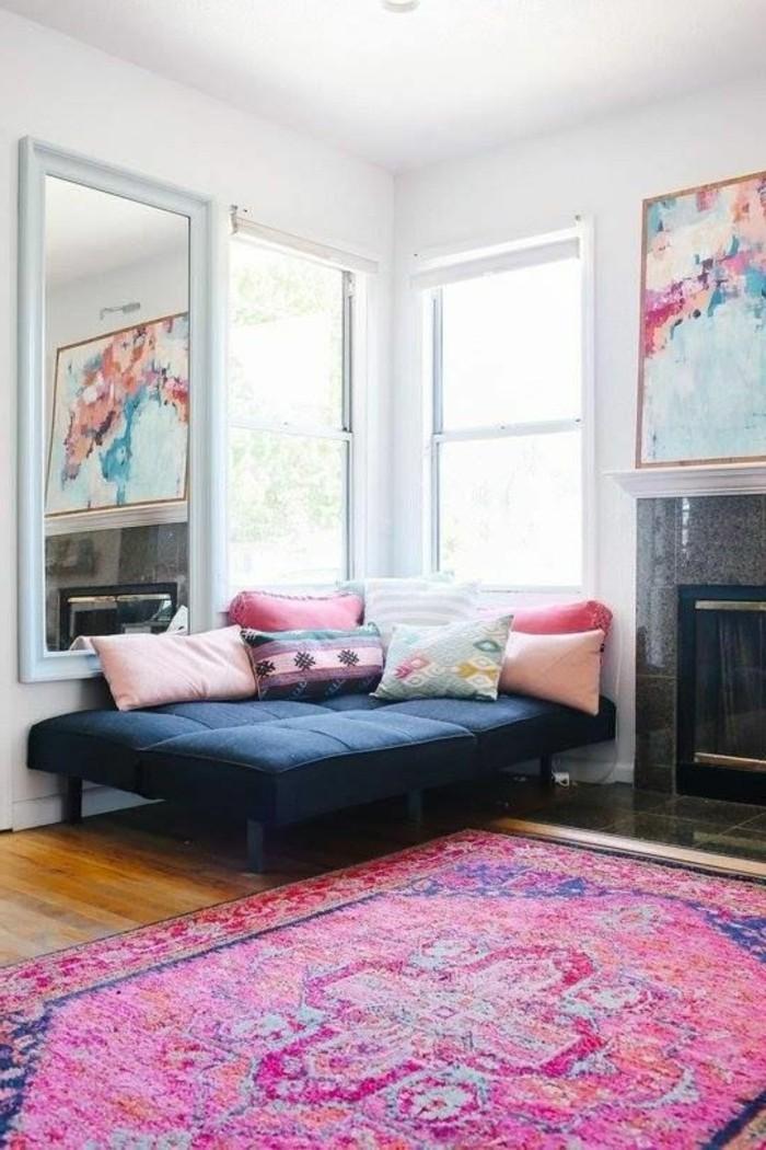 farbkombinationen buntes gemälde und farbige textilien