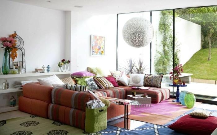 farbkombinationen farbenfroh und frisch den wohnbereich gestalten