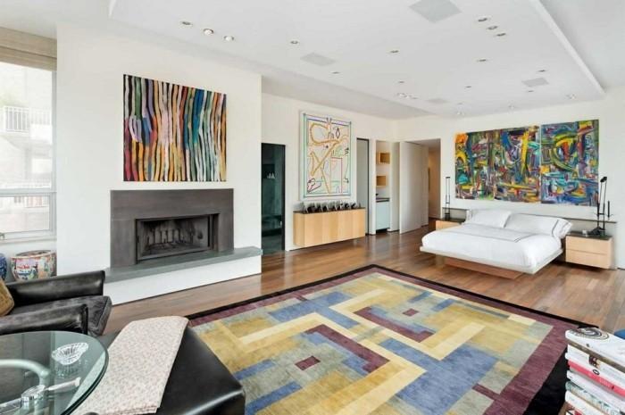 farbkombinationen im wohnzimmer weiße wandgestaltung und farbige akzente