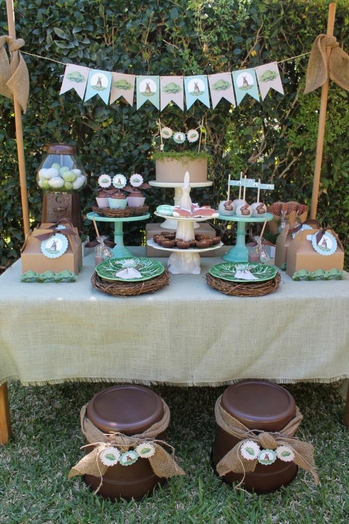 garten zu ostern dekorieren ideen gartenparty