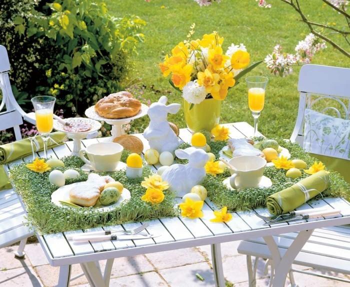 Garten dekorieren zu ostern und fr hlich festliche for Gartendeko tisch