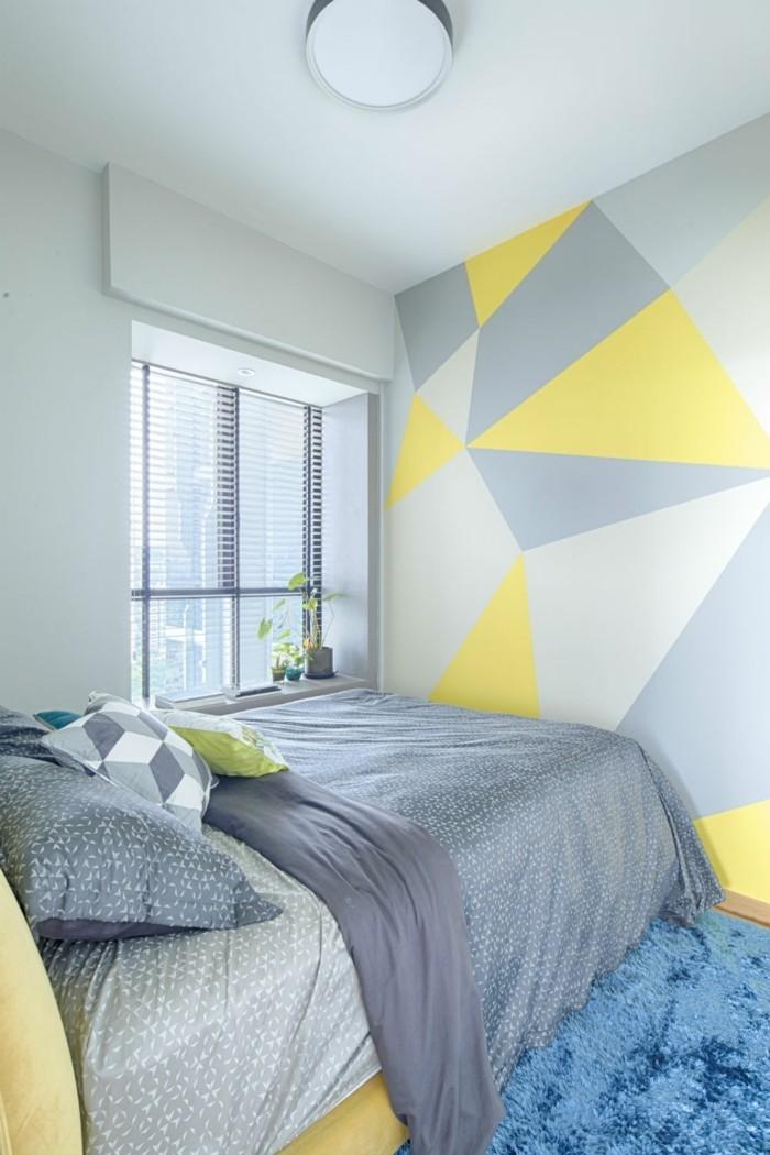 geometrie schlafzimmer einrichtungsideen