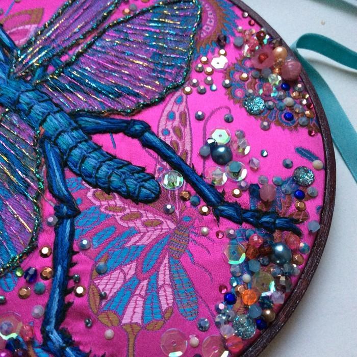 gobelin stickbilder kreative ideen deko ideen diy ideen anders denken aus alt macht neu insekte