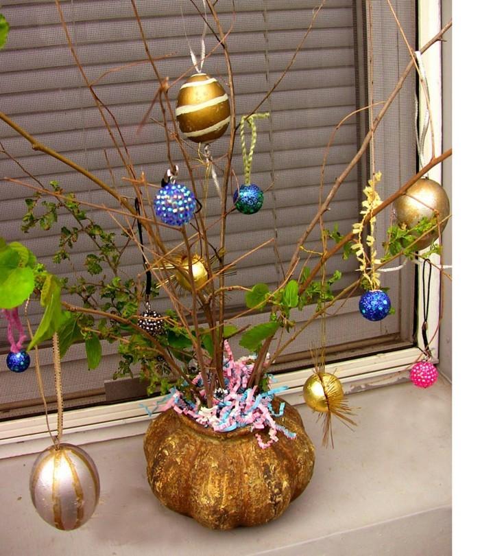 gold farbe ostereierbaum