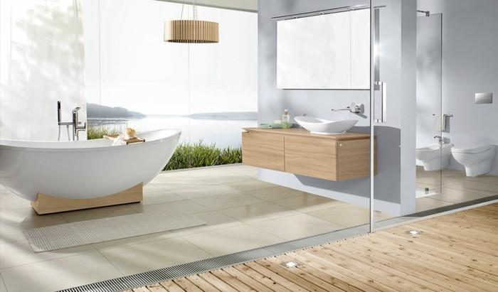 holzboden im badezimmer richtig pflegen waschtisch