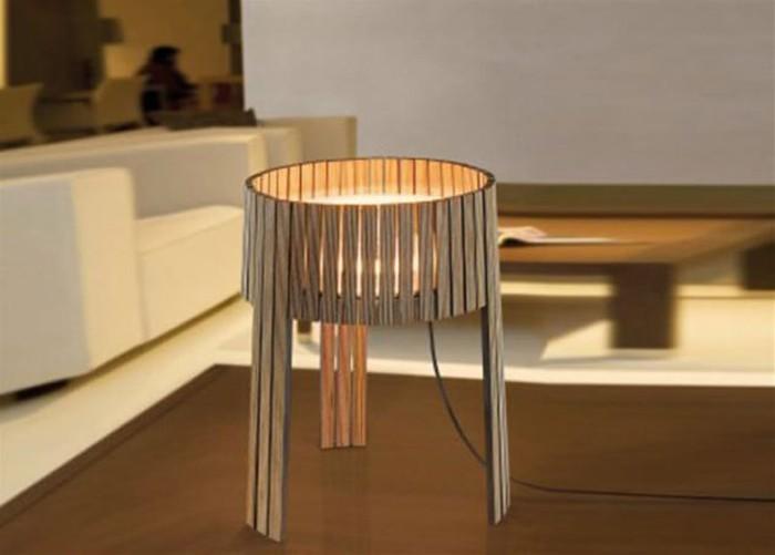 holzlampe desogner lampe lampen design design lampen kegel stehlampe