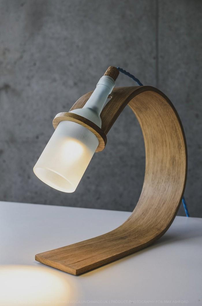 holzlampe desogner lampe lampen design design lampen wandlampe blumig flasche