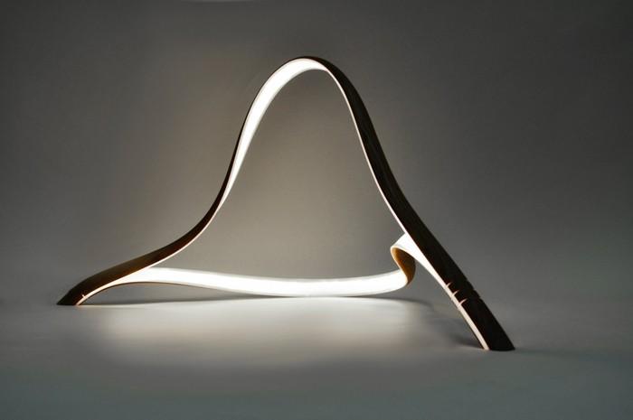 holzlampe desogner lampe lampen design design lampen wandlampe knonleuchter organische form
