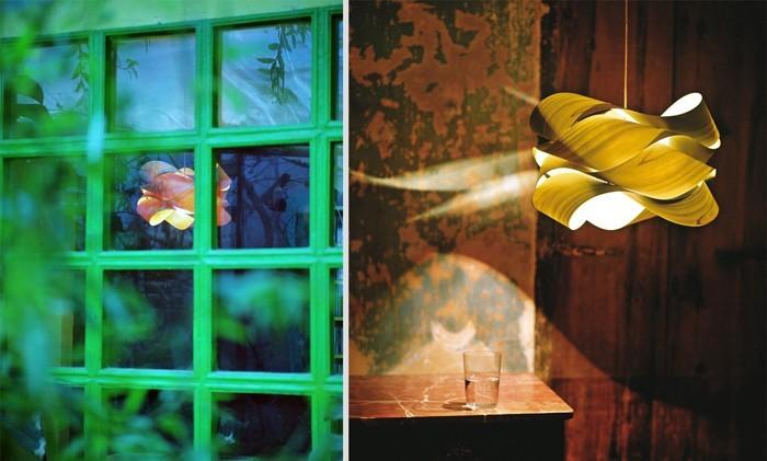 holzlampe desogner lampe lampen design design lampen wandlampe knonleuchter verbogen