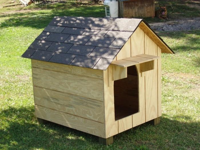 holzpaletten hundehuette bauen