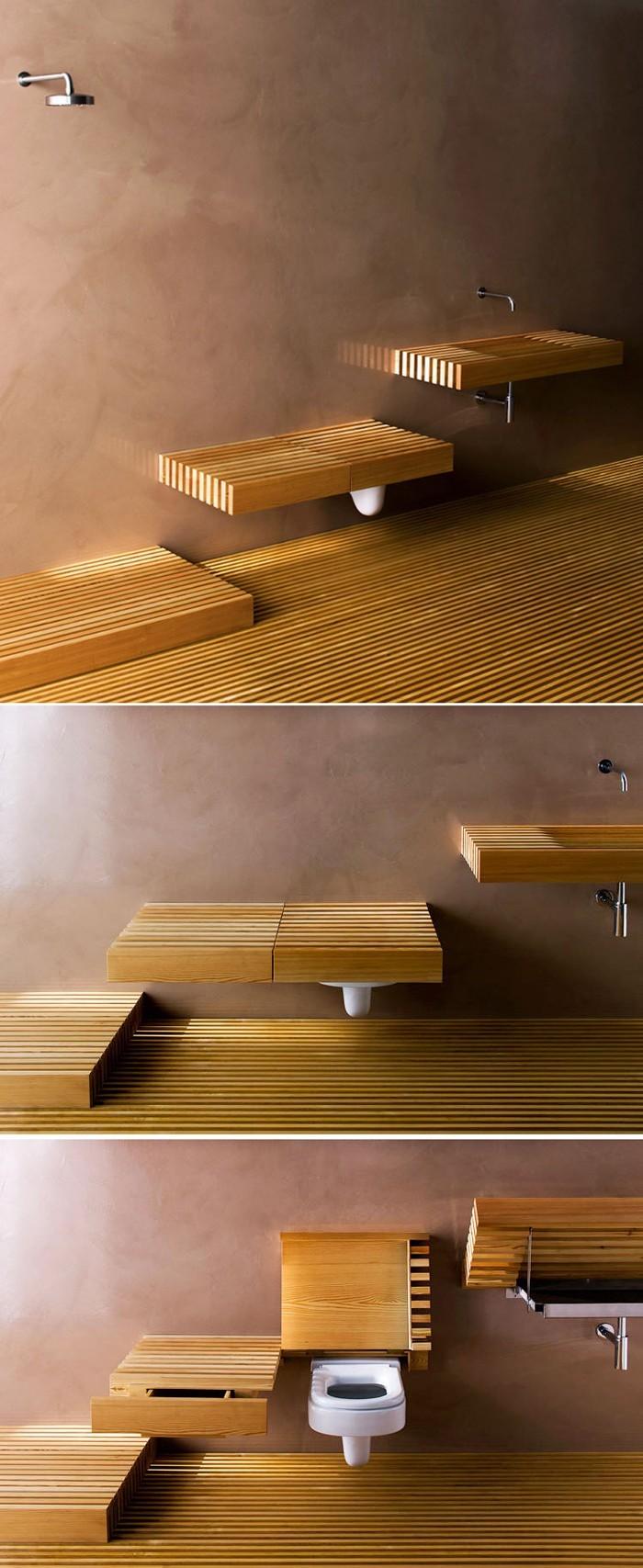 holzwaschbecken badezimmer gestalten holzoberfläche garnitur