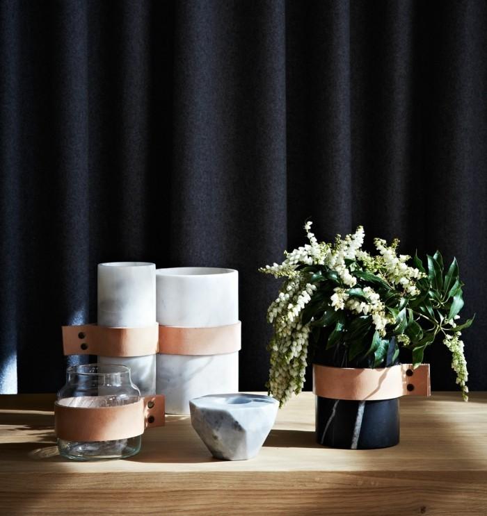 interior trend 2017 lederstreifen wohnaccessoires vasen