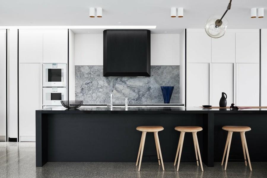küche modern einrichten marmor küchenrückwand
