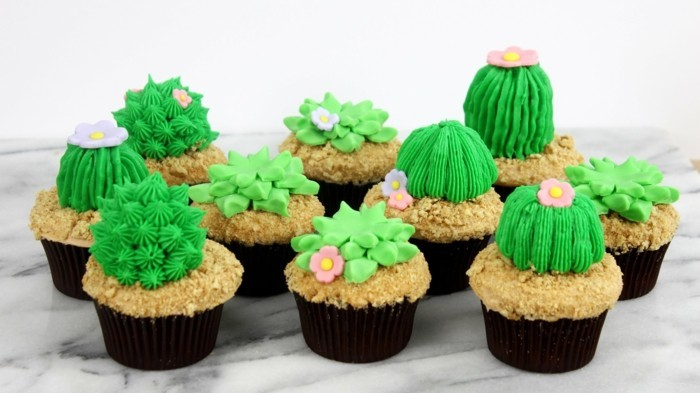 kaktus muffins selber zu hause zubereiten