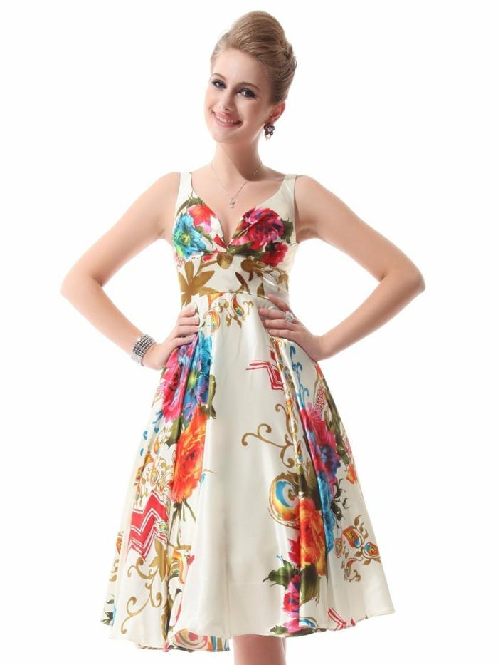 kleid mit blumenmuster elegante vision