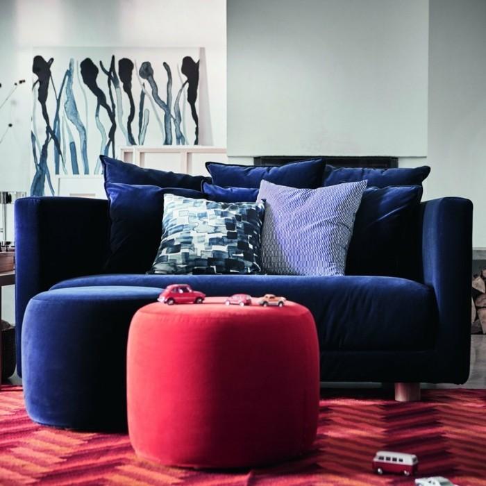 Kobaltblaues Sofa Roter Hocker Samt Wohnzimmer Ideen Ikea Skandinavischer  Frühling 2017 U2013 Die Neue Ikea Stockholm Kollektion Ist Schon Da!