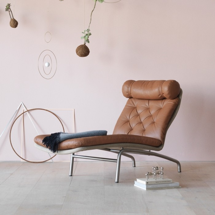 lounge chair arne vodder ledersessel mid century dännisch design