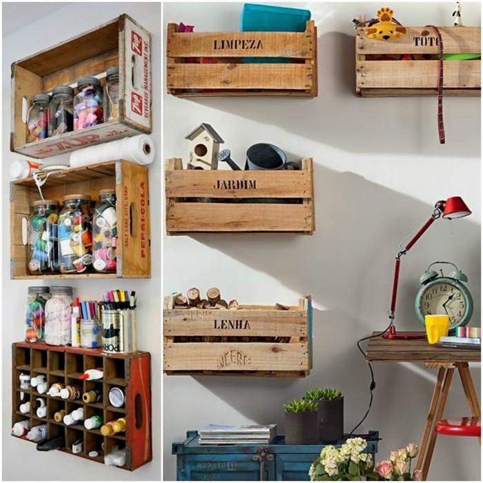 möbel aus weinkisten deko ideen diy ideen nachhaltig leben arbeitszimmer