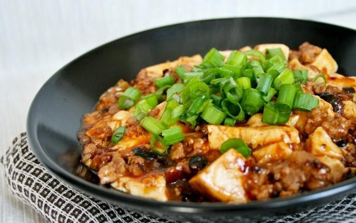 ma po tofu zubereiten und essen