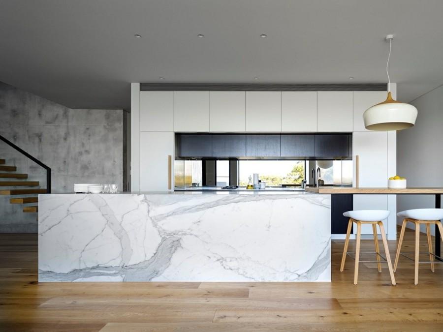 marmor kücheninsel luxuseinrichtung