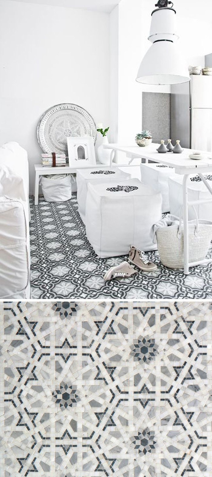 marokkanische fliesen zementfliesen interirdesign ideen wohnung design anders denken mosaik fliesen bodenbleag
