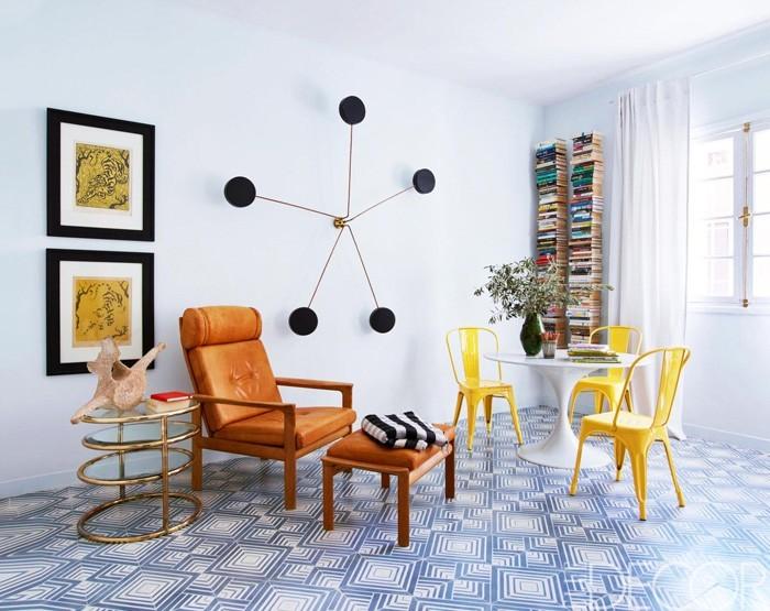 marokkanische fliesen zementfliesen interirdesign ideen wohnung design anders denken mosaik fliesen kreative wandgestaltung mobiliar