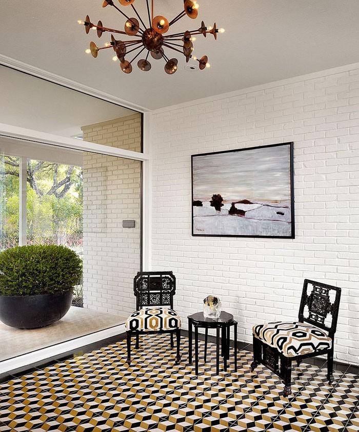 marokkanische fliesen zementfliesen interirdesign ideen wohnung design anders denken mosaik fliesen kreative wandgestaltung weiss