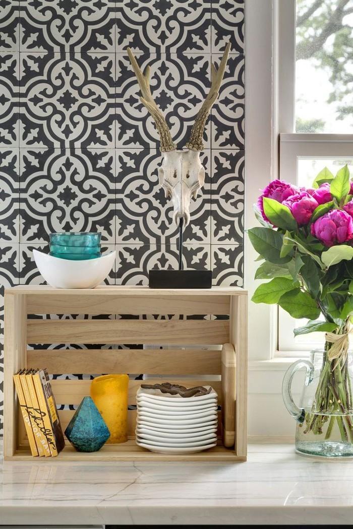 marokkanische fliesen zementfliesen interirdesign ideen wohnung design anders denken mosaik fliesen deko ideen