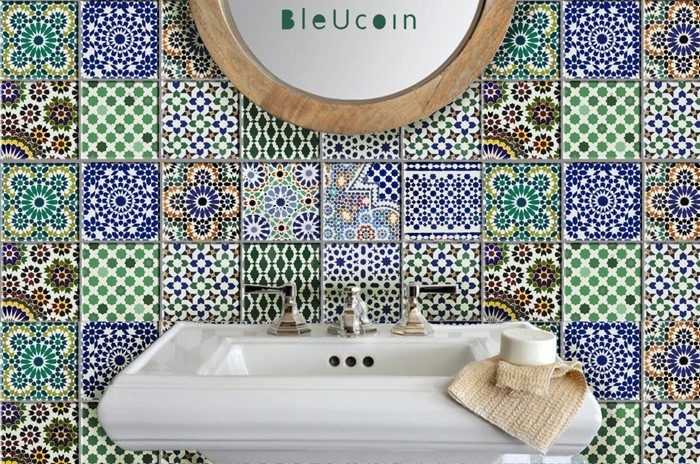 marokkanische fliesen zementfliesen interirdesign ideen wohnung design anders denken mosaik fliesen