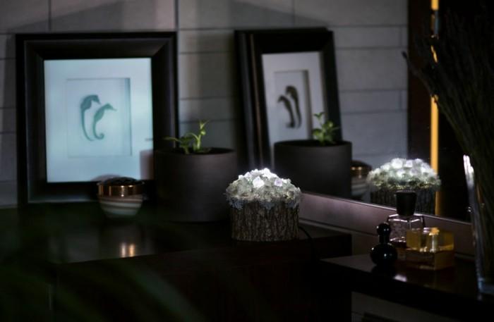 Moderne Lampen 13 : Moderne leuchten aus kristallen und moos stellen wunderliche mini