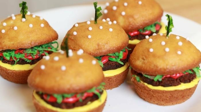 muffins wie hamburger