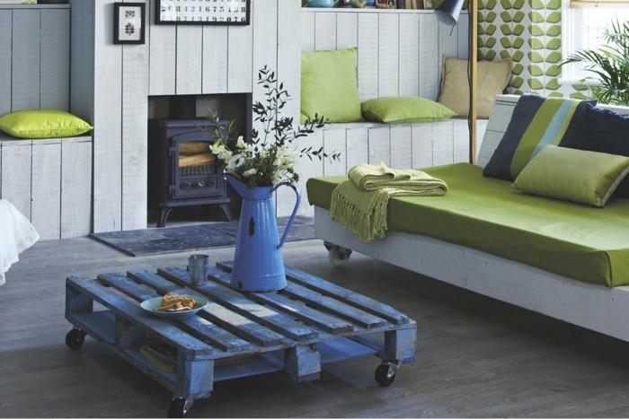 palettenmöbel möbel ideen wohnzimmer couchtisch aus europalette