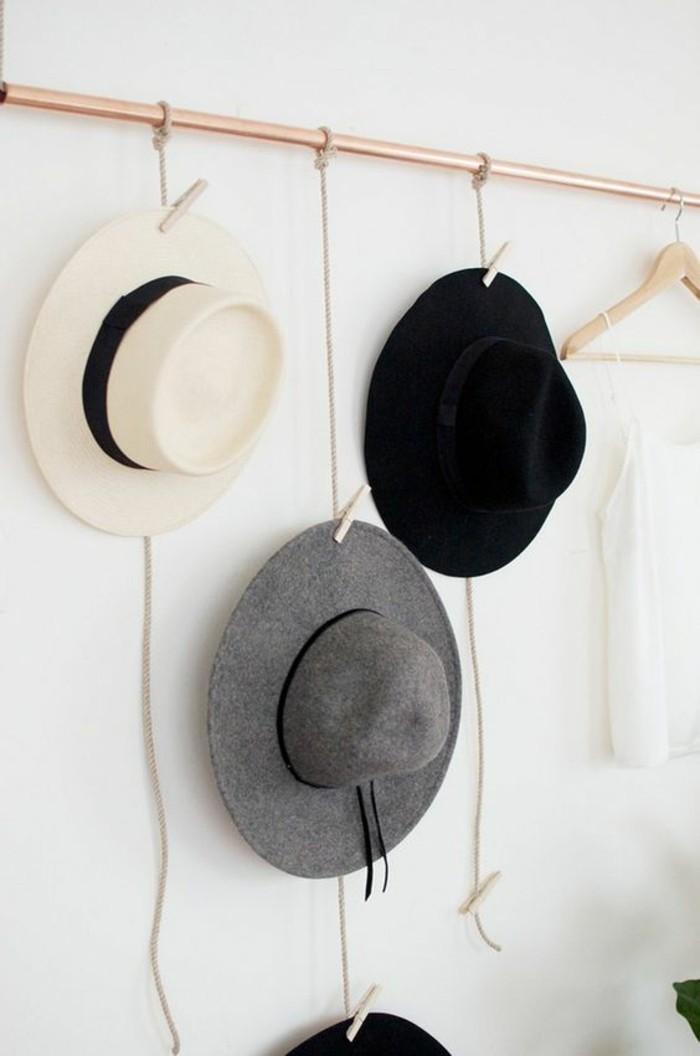 platz sparen hüte an die wand hängen