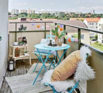 ▷über 1000 Balkonmöbel - Gartenmöbel Aus Polyrattan, Lounge Möbel ... Balkon Gestalten 77 Ideen Lounge