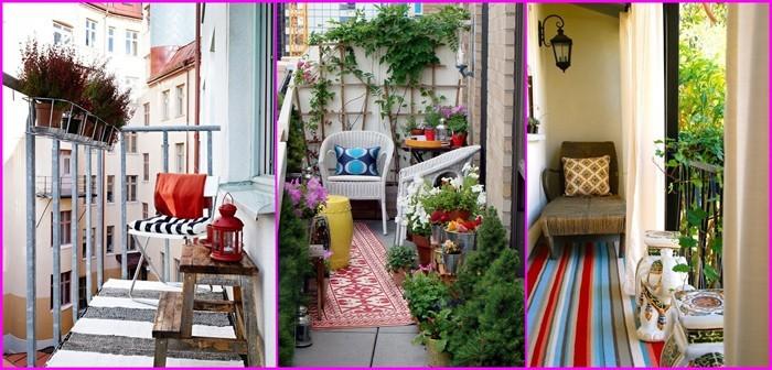 platzsparende moebel kleinen balkon gestalten-ganzer balkon farbgestaltung