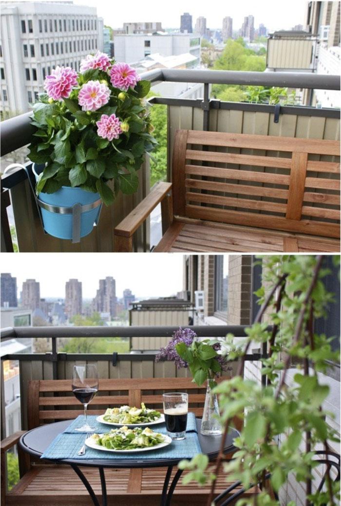 platzsparende moebel kleinen balkon gestalten raumnutzung wohnideen
