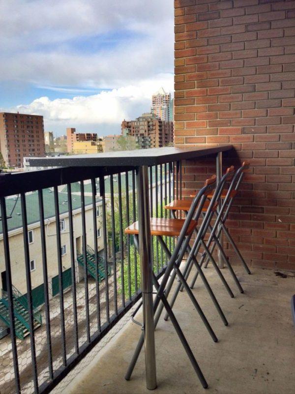 balkon ideen balkongestaltung platzsparende moebel praktische ideen großstadt