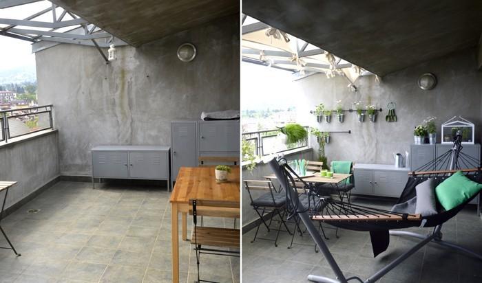 platzsparende moebel kleinen balkon gestalten