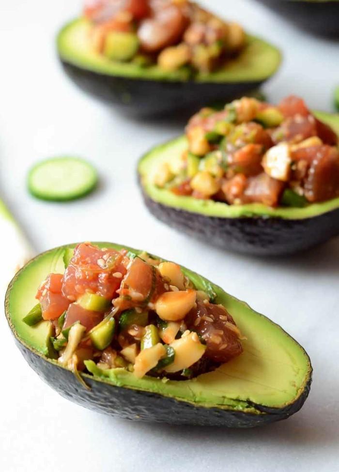 salat avocado macadamia