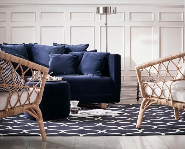 Elegant Das Perfekte Sofa Zum Kuscheln Und Entspannen Wundervoll 50 Ikea  Einrichtungsideen Fürs Moderne Wohnzimmer ... Sofa Ikea Blau Wohnzimmer  Fesselnd ...